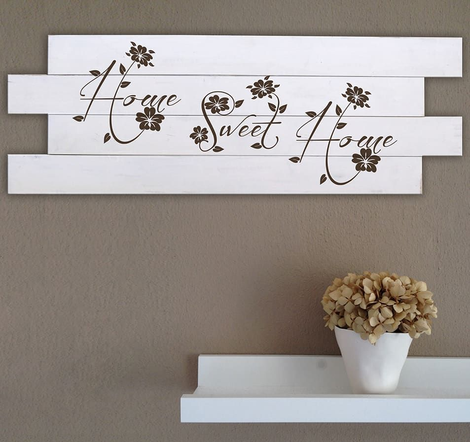 Decorazioni Da Muro.Pannelli Da Muro In Legno Shabby Chic Home P03 Shabby Chic