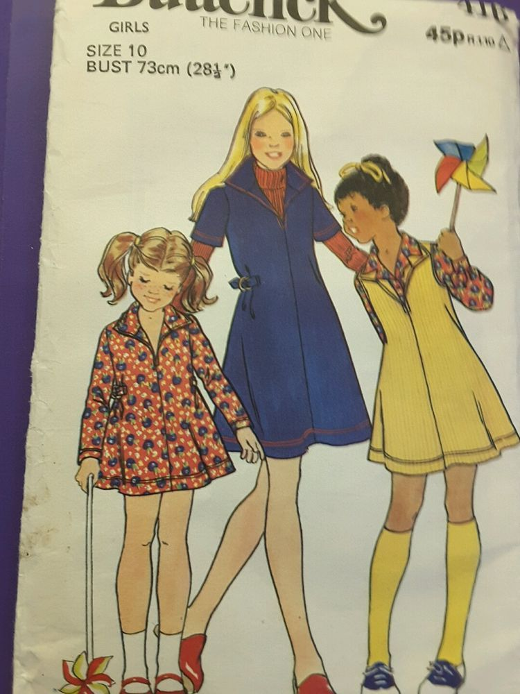 BUTTERICK 4116 size girls 10 vintage sewing Dressmaking patterns ...