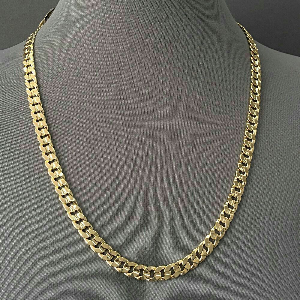 or ladies mm img white men rope itm mens necklace inches ebay jewelry chains chain solid gold