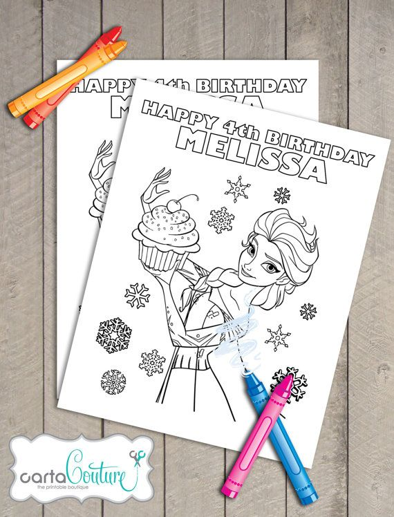 Set Of 2 Frozen Disney Printable Personalized Olaf By CartaCouture