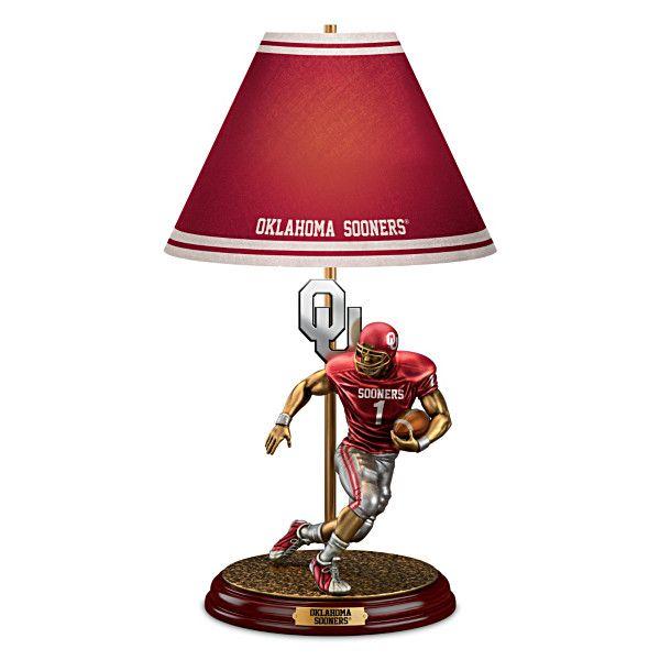 Oklahoma Sooners Football Lamp