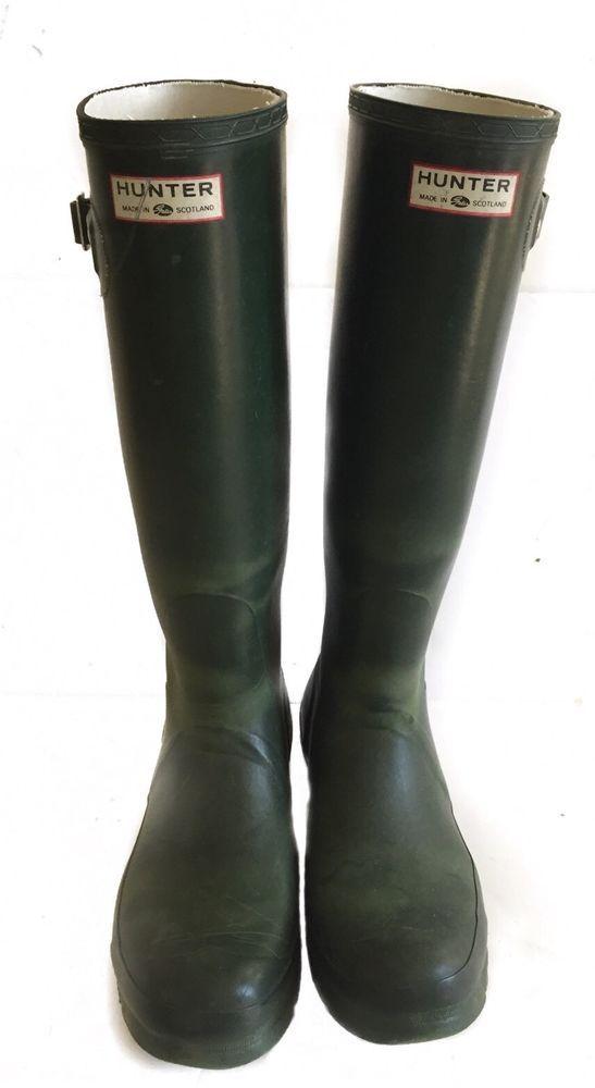 Hunter Original Rain Boots Vintage Green Made in Britain