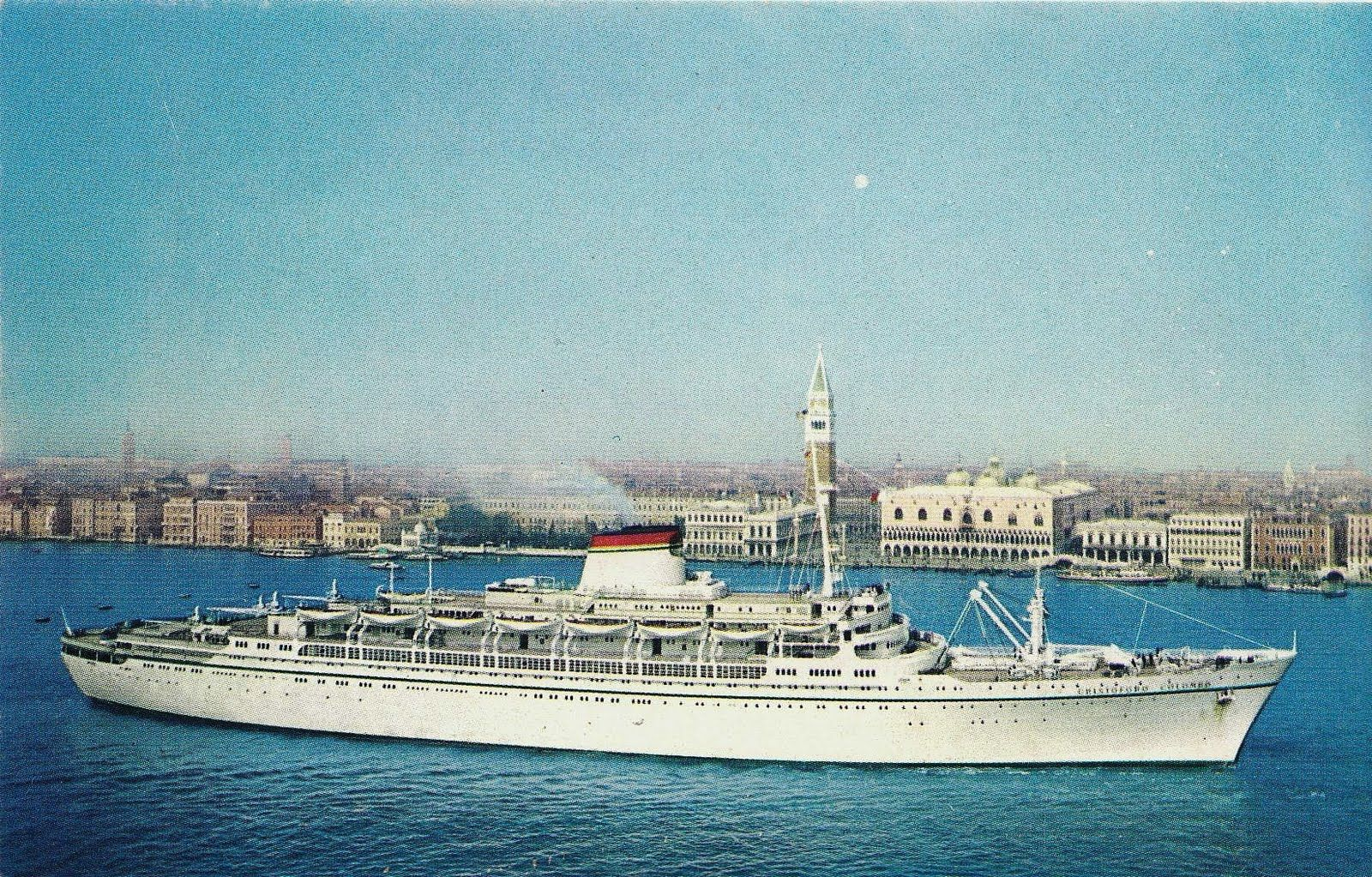 The Italian Line Christoforo Columbo This Is How I Sailed To - Columbo cruise ship