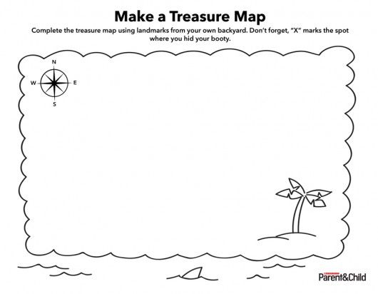 Printable Treasure Map For Kids Small 3 Cub Scout Wolf