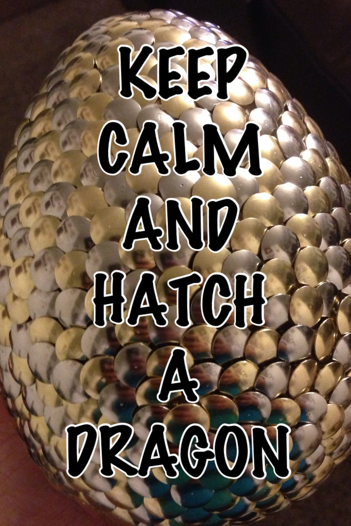 Keep Calm and Hatch a Dragon! Preferably Night Furies. Yes, I know it's Game of Thrones, but I like it. lol XD