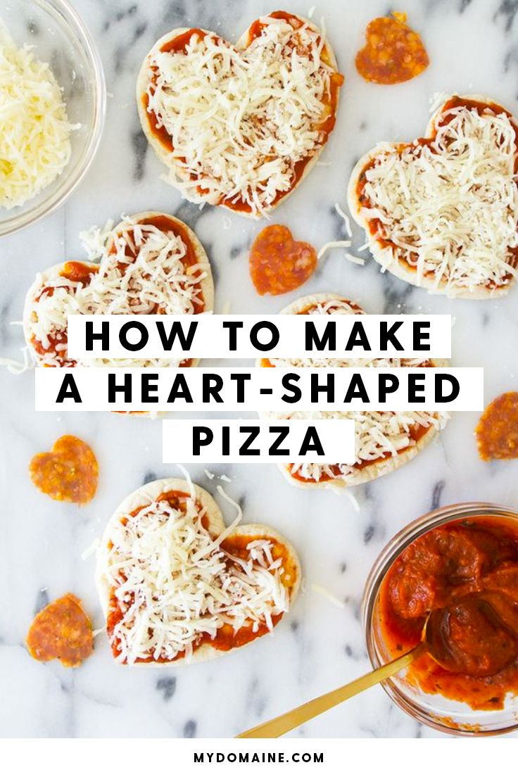 How to make heart-shaped pizza for Valentine's Day