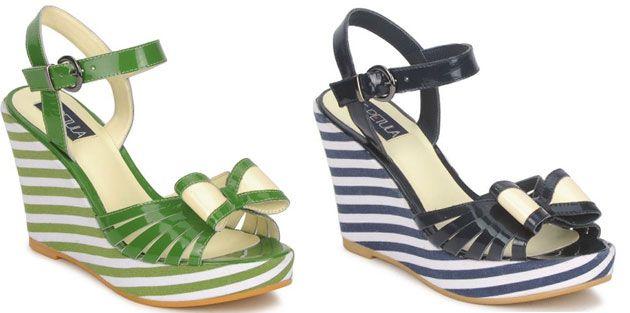 stripe wedge sandals...need!!