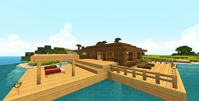 Tropical Beach House Getaway Minecraft Map With Images