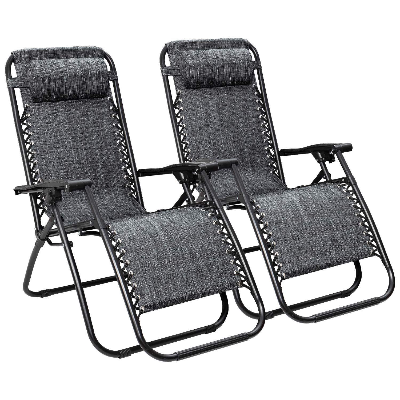 Flamaker Patio Zero Gravity Chair Outdoor Folding Lounge Chair