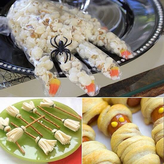 popcorn hand for school lunch Christmas Pinterest Snacks - halloween treat ideas for school parties