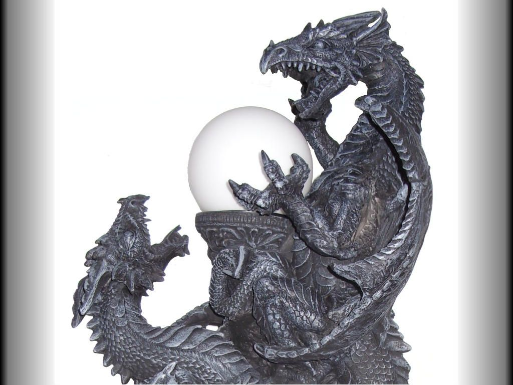 Dragon Lamps | Homepage U003e Dragon Lamps U003e Fighting Dragons Lamp   Gothic  Fantasy Light