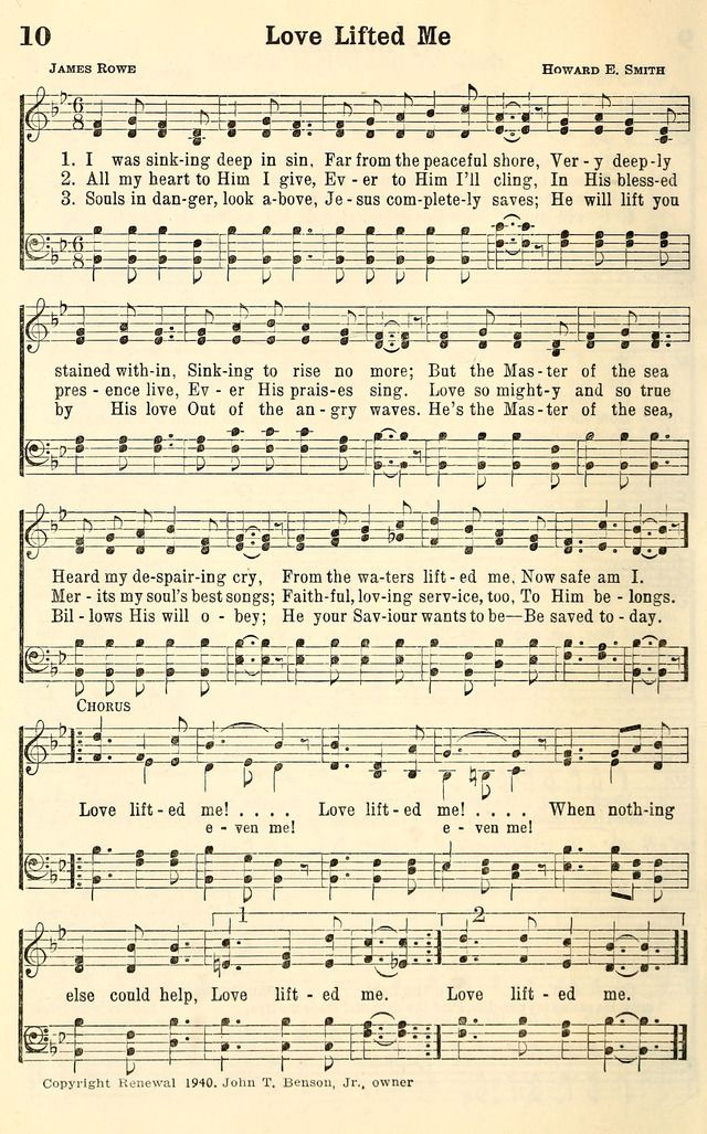 Love Lifted Me With Images Hymns Lyrics Hymn Music Church Songs