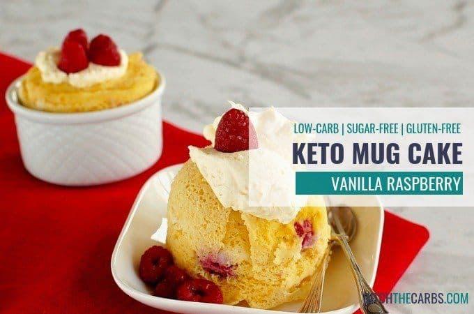 Keto Vanilla Berry Mug Cake #proteinmugcakes