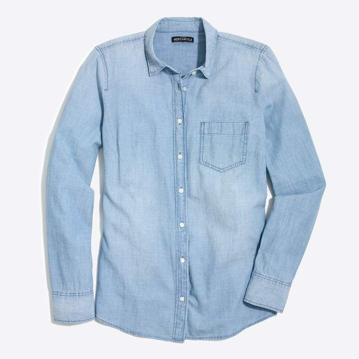 f3207453 J.Crew Factory J.Crew Mercantile chambray shirt in perfect fit ...