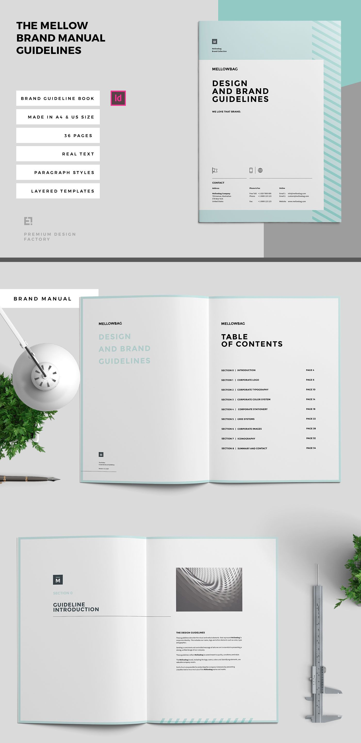 Minimal and Professional Brand Manual and Identity Brochure template ...