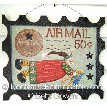 Air Mail Wood Stamp Sign - Betty Bowers - PDF DOWNLOAD