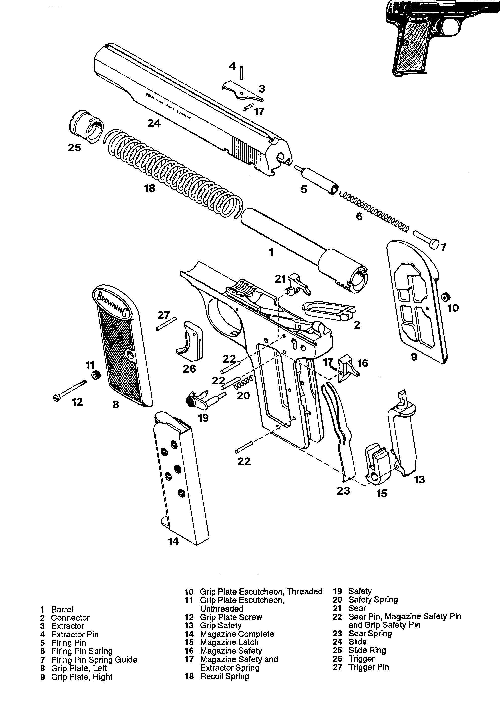 FN M1910 Handgun - Bing images