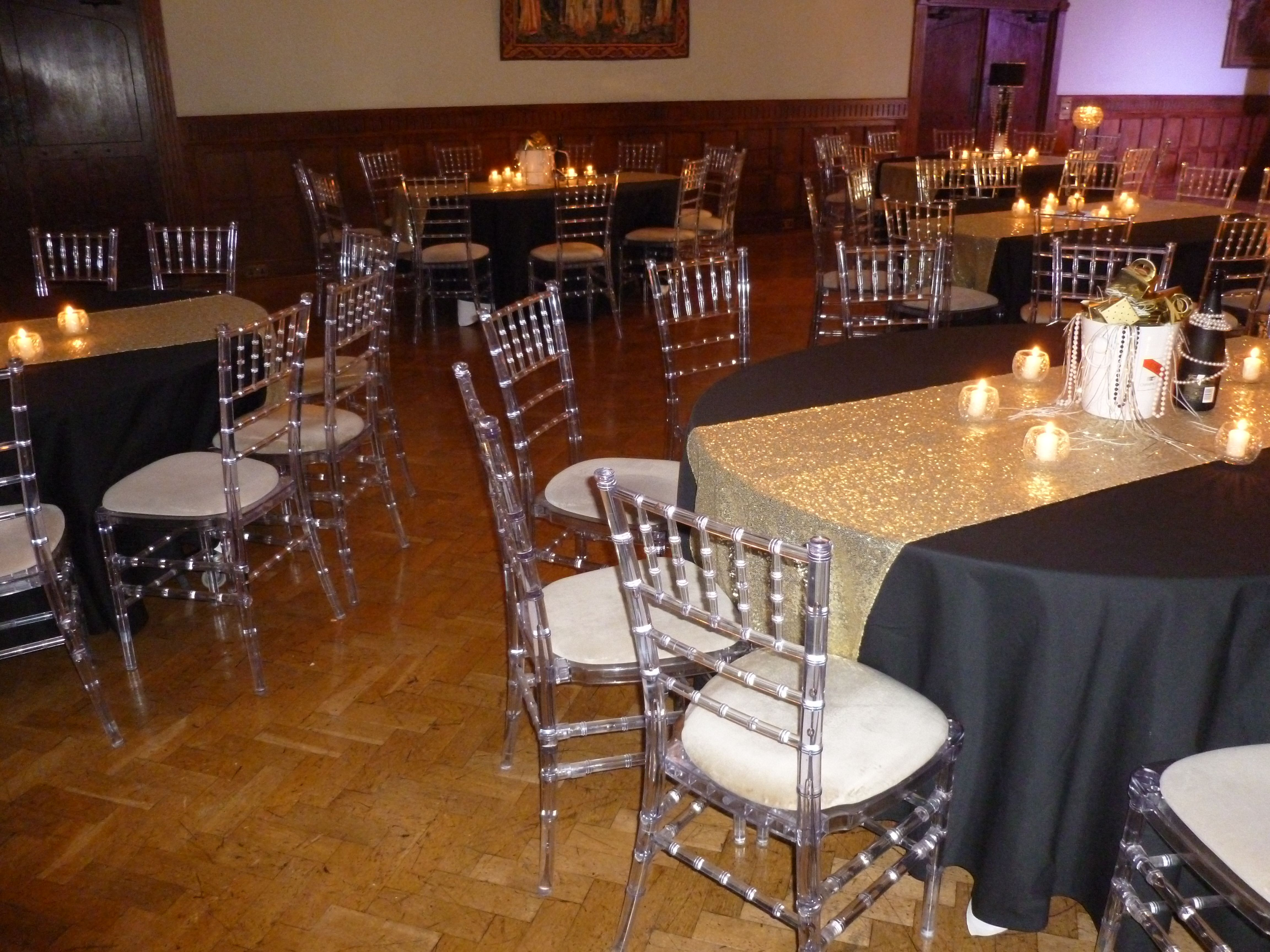 Silver sequin Cardiff and Chair covers on Pinterest