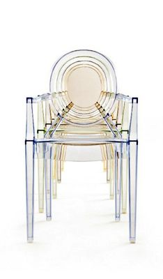 Ghost Chair He First Single Piece Injection Molded Transparent Polycarbonate Starck And Kartell Rei Louis Ghost Chair Contemporary Dining Chairs Ghost Chair