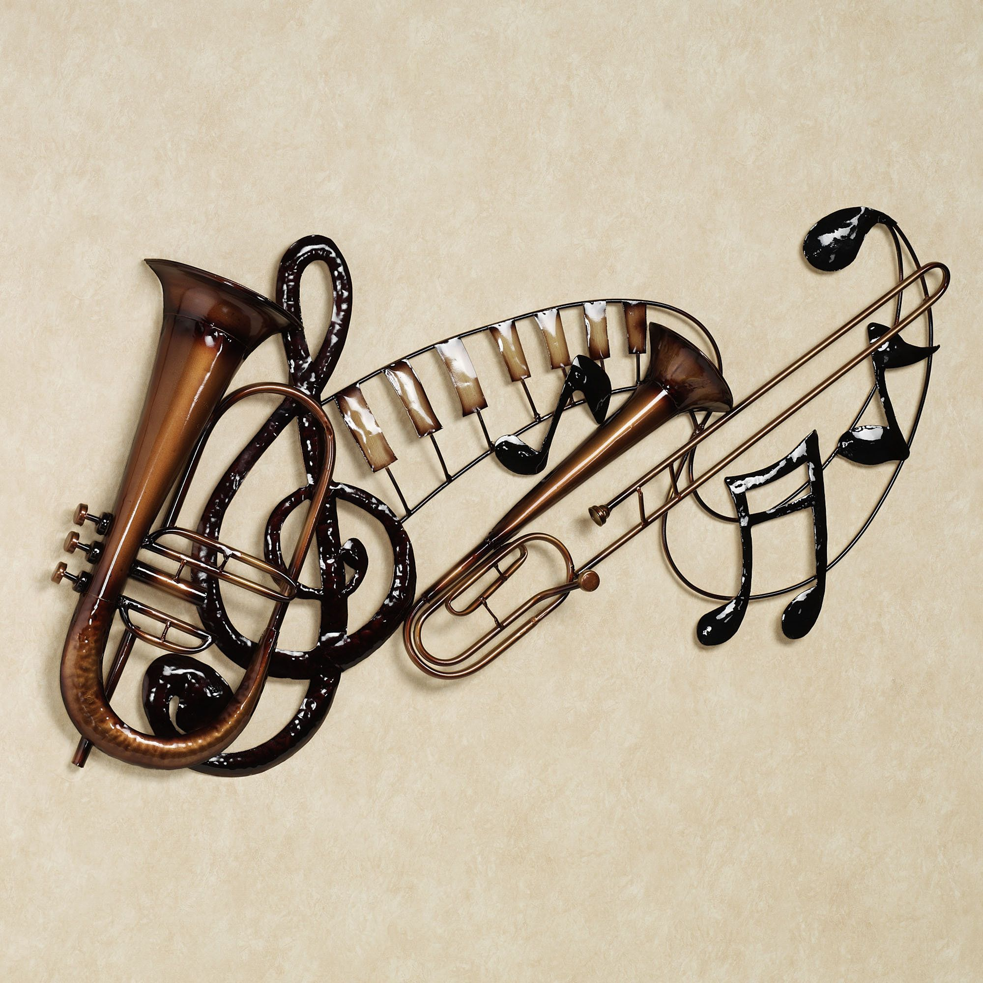 Artistic Metal Wall Art Decor Music Heart Notes Musical Clef