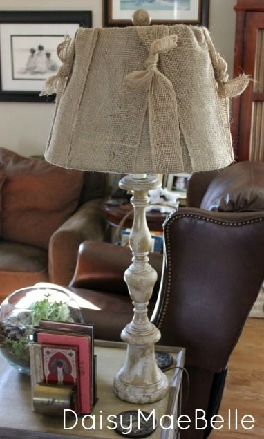 How to Make a Burlap Lampshade | daisymaebelle