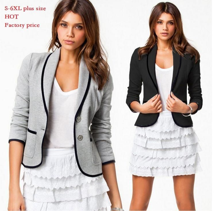 Womens casual Blazers jackets Short Fashion brand Designer lady ...