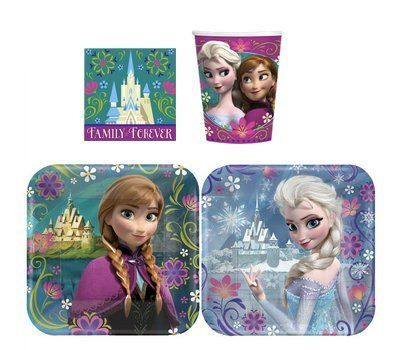 48 Pack - Frozen Birthday Theme Party Supply Pack for 16 Guests $26.98