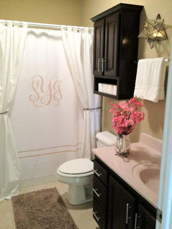 Custom Shower Curtain Simplicity In White Or Bottom Band Etsy