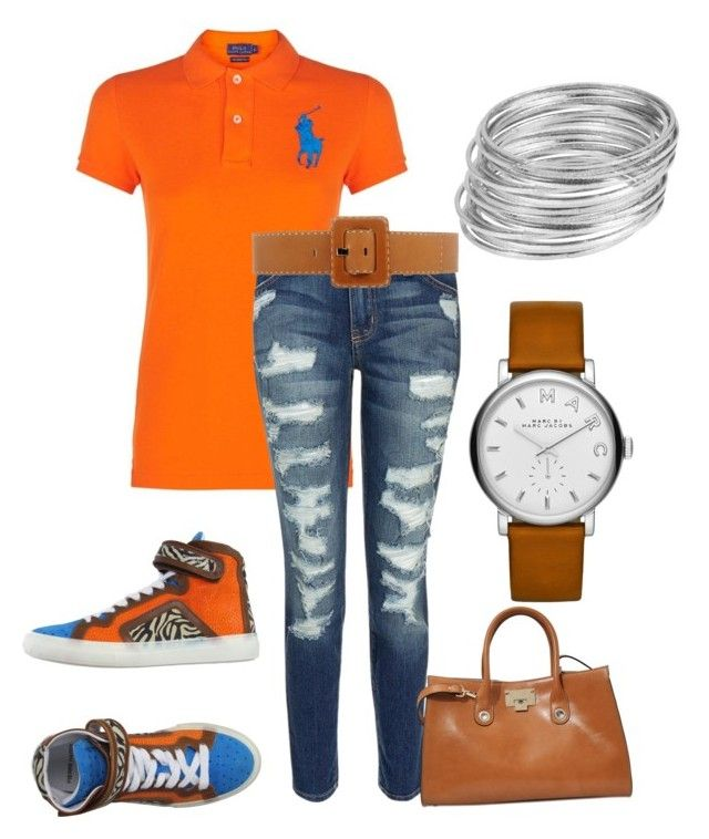 """""""Running Errands"""" by kerashawn ❤ liked on Polyvore featuring Polo Ralph Lauren, Current/Elliott, Pierre Hardy, Michael Kors, Jimmy Choo, Marc by Marc Jacobs and Worthington"""