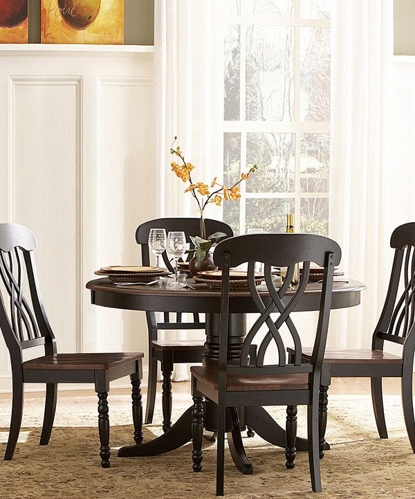Loving This Distressed Cherry Yorkshire Five Piece Dining Set On Zulily Zulilyfinds