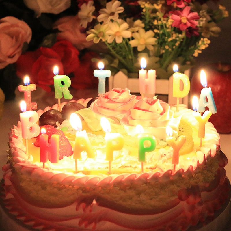Happy Birthday Cake With Candles Birthday Cake Happy Birthday