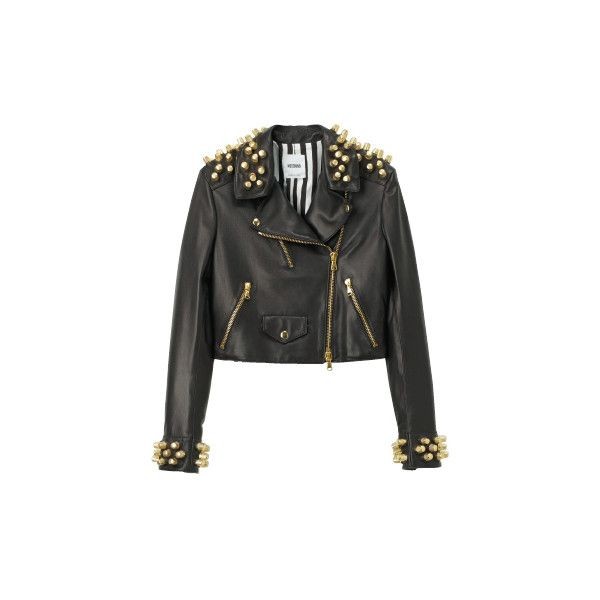 Moschino S/S 2011 Studded Lether Perfecto found on Polyvore