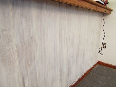 Whitewashing Wall Paneling With Annie Sloan Chalk Paint Painting
