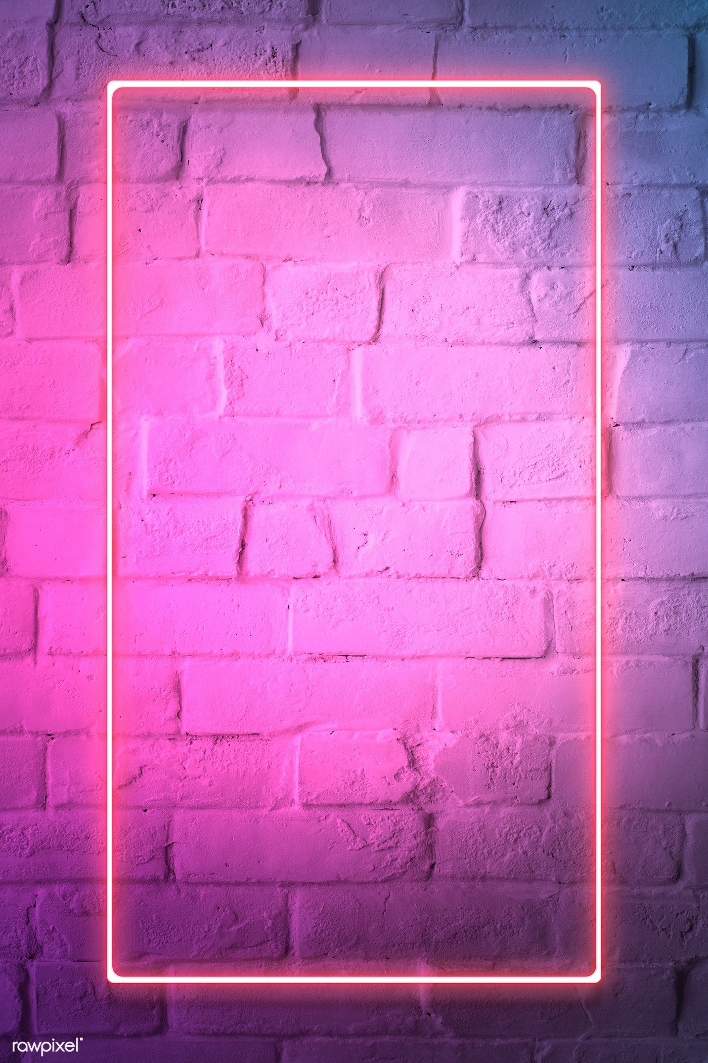 Download Premium Illustration Of Pink Neon Lights Frame On A White Brick Pink Neon Lights Neon Light Wallpaper Neon Wallpaper