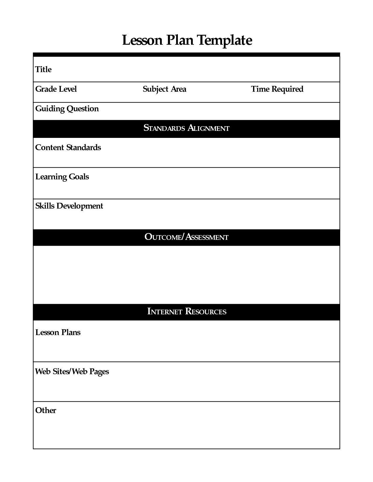 026 Free Editable Elementary Lesson Plan Template Ideas