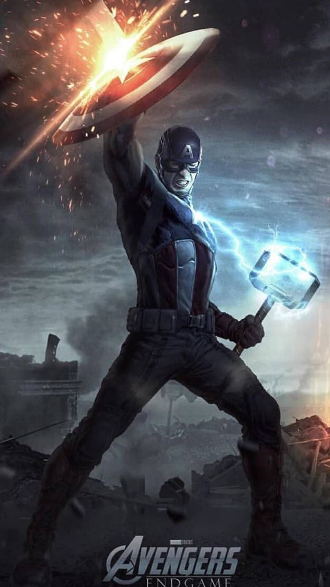 Captain America Final Battle With Captain Lifts Mjolnir Iphone