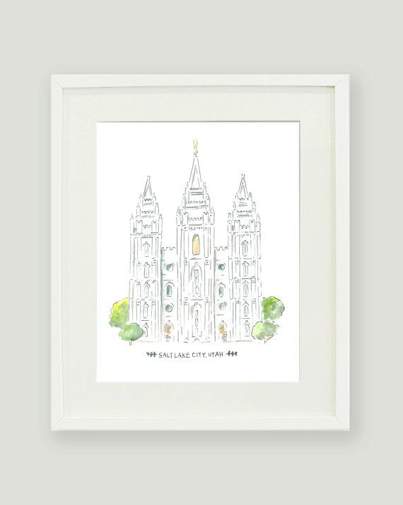 Archival print of the original watercolor painting SIZES: This print ...