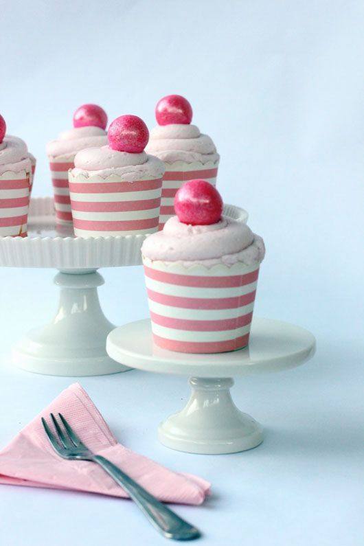 Five Things to Make with Gumballs: DIY Gumball Cupcake Toppers via Best Friends for Frosting