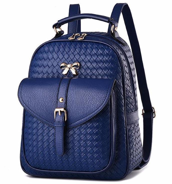 Lady School Bag Aritificial Leather Backpack Fashion Mini Rucksack Purse Handbag