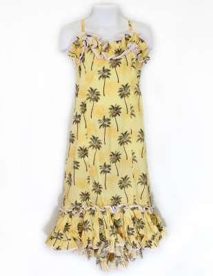 01c2fab223 Yellow Girl's Spaghetti Straps Ruffled Pa'Ma Dress : Shaka Time Hawaii  Clothing Store Love this style! #girlsdresses
