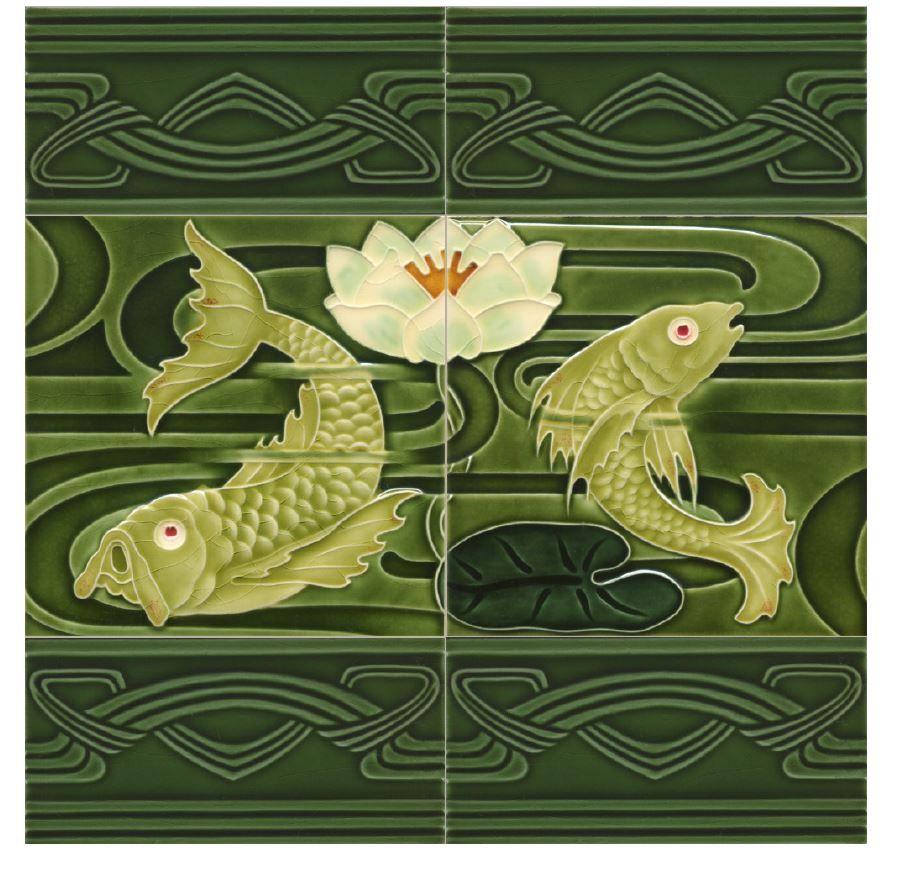 Golem Art Nouveau Tiles For Further Information About