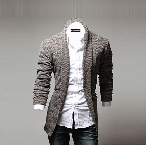 Mens Fashion Open Shawl Cardigan of Various Styles Shawl Collar ...