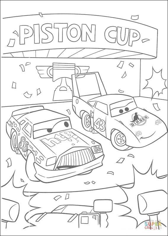 Piston Cup   Super Coloring