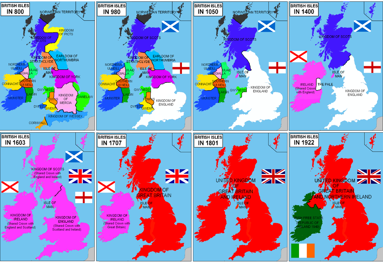 Map Of Uk 800 Ad.British Isles Unification 800 A D 1922 A D Ingiltere Tarihi
