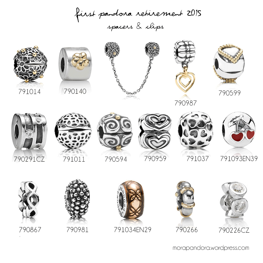 pandora charms clips spacers