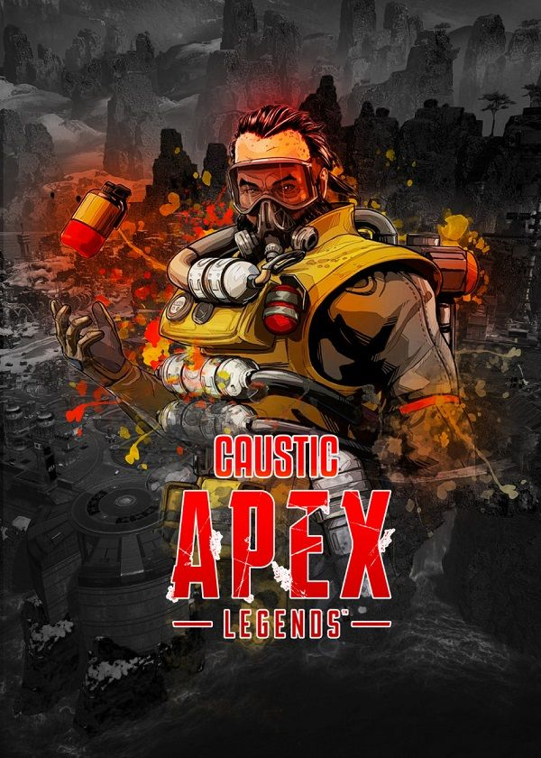 "Apex Legends Splatter Characters Caustic #Displate explore Pinterest""> #Displate artwork by artist ""Aohiro Art"".… 