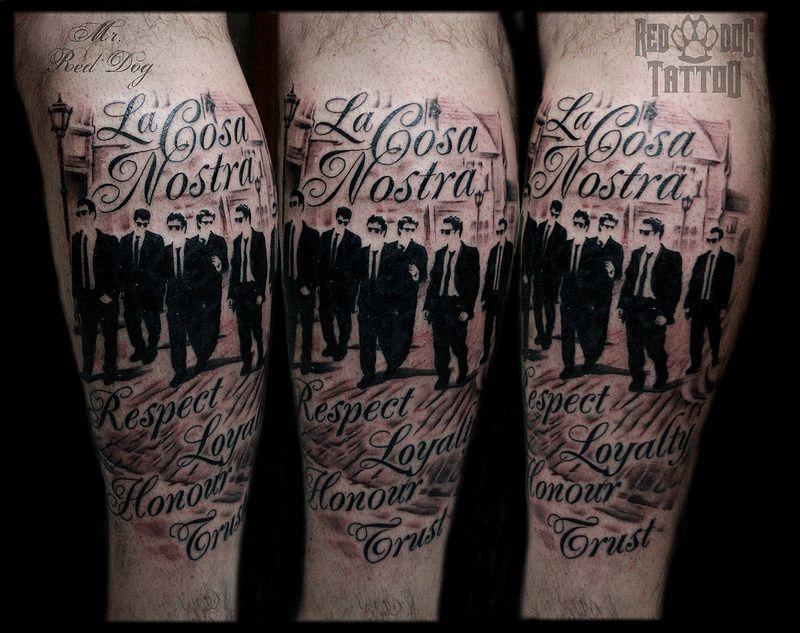 La Cosa Nostra Tattoo Tattoo Mafia Tattoos Ink Tattoo