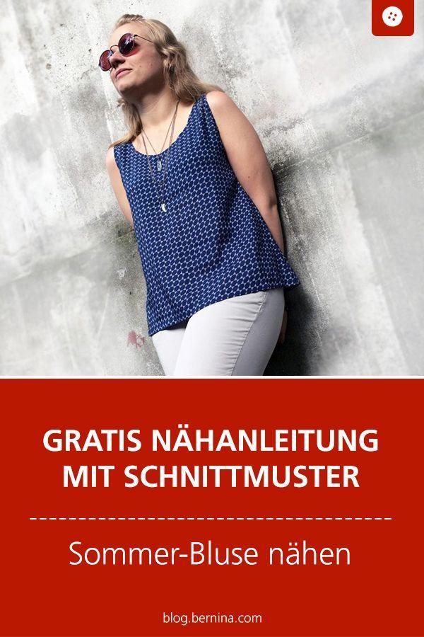 Anleitung und Schnittmuster für Sommerkleid zum Selbernähen