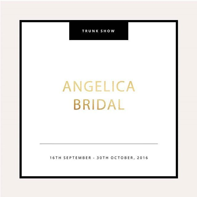TRUNKSHOW // London brides-to-be if you have been wanting to see our 2016 trunk-show then this is your chance! Start: 16th September - 30th October // Email info@angelicabridal.co.uk or call 020 7226 7823 for an appointment // A: 18 Camden Passage, Islington, London N1 8ED @angelicabridal_ @kwhbridal Reposted Via @kwhbridal