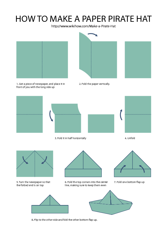 How to Make a Paper Sailor Hat